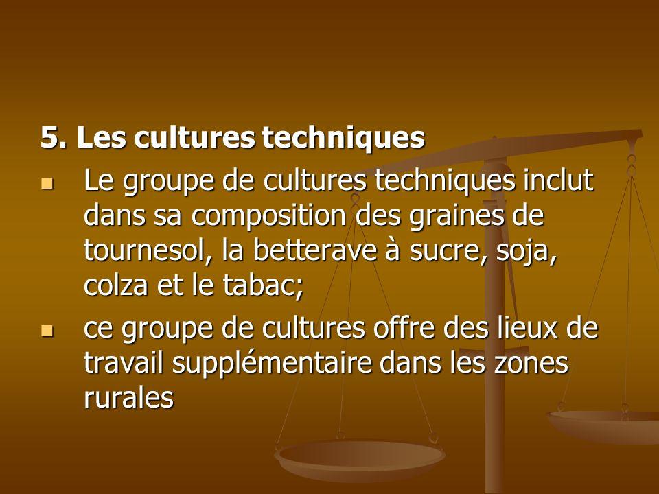 5. Les cultures techniques