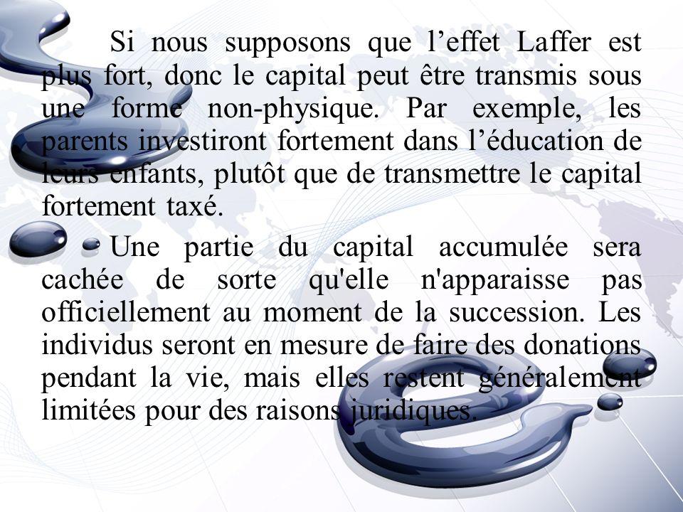 Si nous supposons que l'effet Laffer est plus fort, donc le capital peut être transmis sous une forme non-physique.