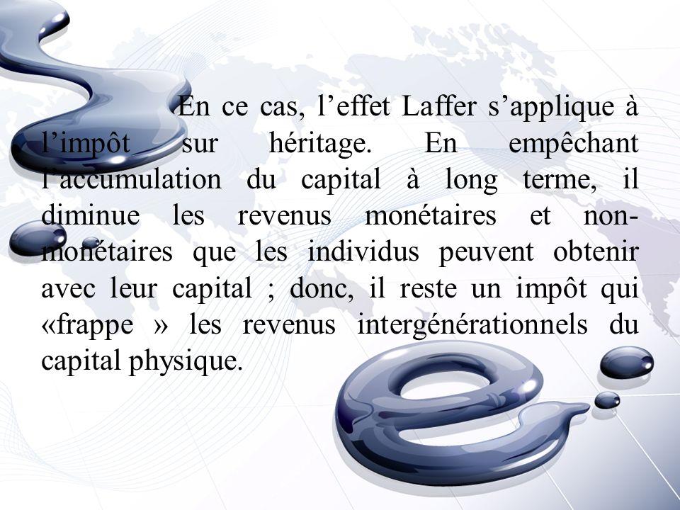 En ce cas, l'effet Laffer s'applique à l'impôt sur héritage