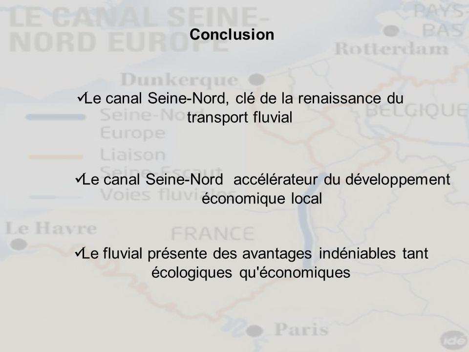 Le canal Seine-Nord, clé de la renaissance du transport fluvial