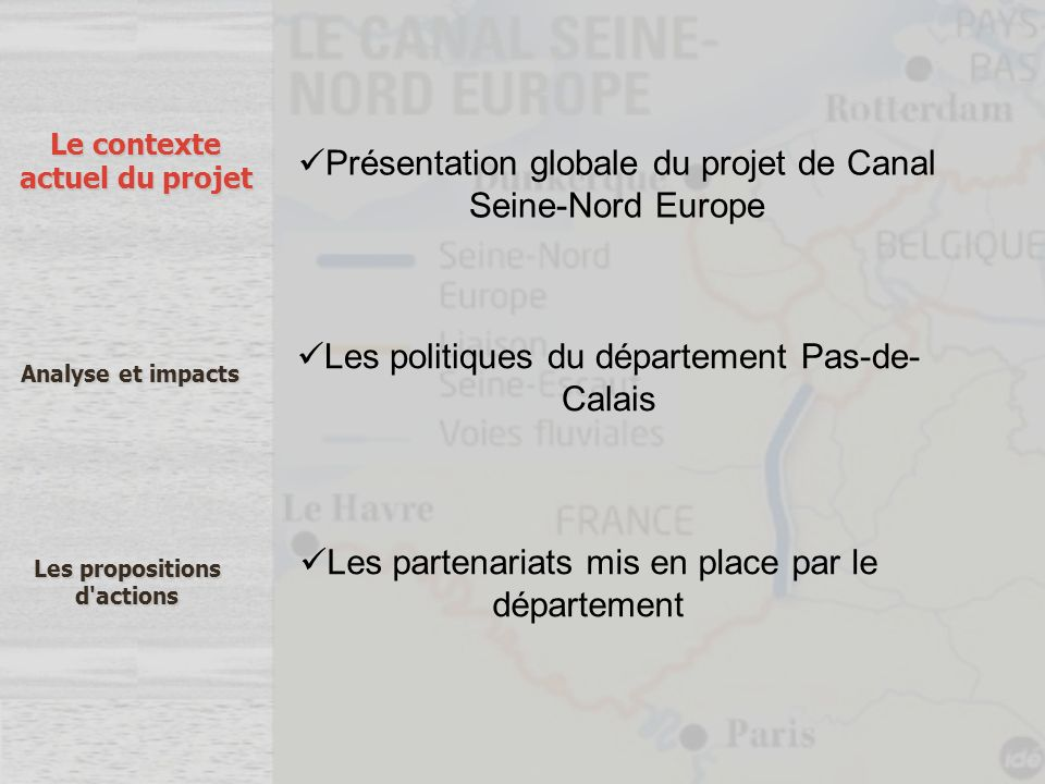 Présentation globale du projet de Canal Seine-Nord Europe