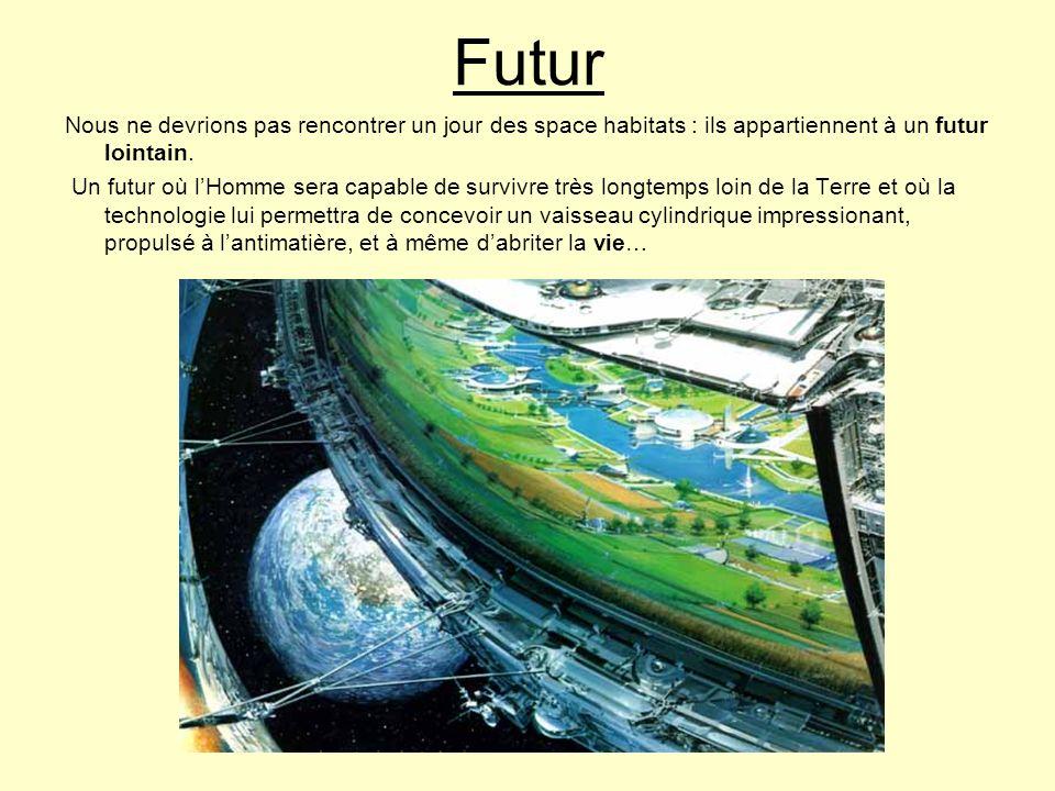Futur Nous ne devrions pas rencontrer un jour des space habitats : ils appartiennent à un futur lointain.