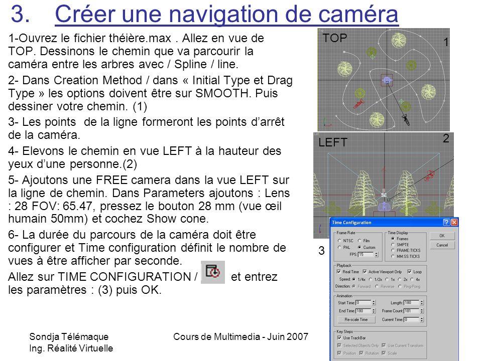 Créer une navigation de caméra