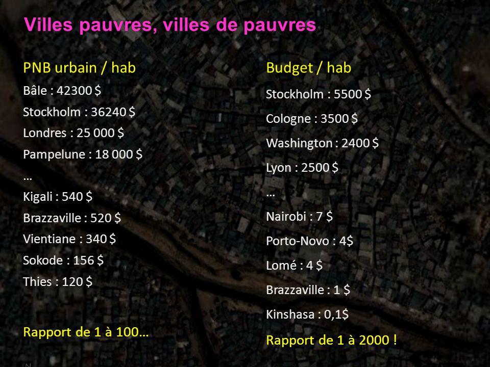 Villes pauvres, villes de pauvres