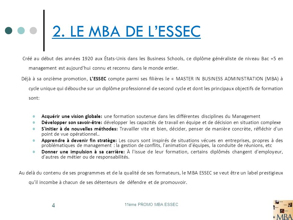 2. LE MBA DE L'ESSEC