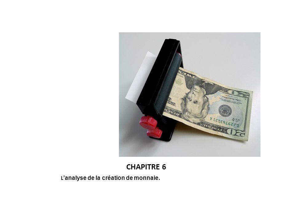 CHAPITRE 6 L'analyse de la création de monnaie.