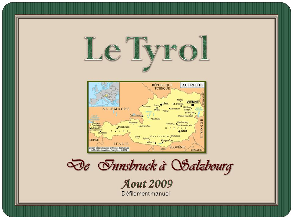 De Innsbruck à Salzbourg