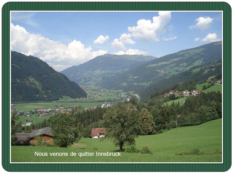 Nous venons de quitter Innsbruck