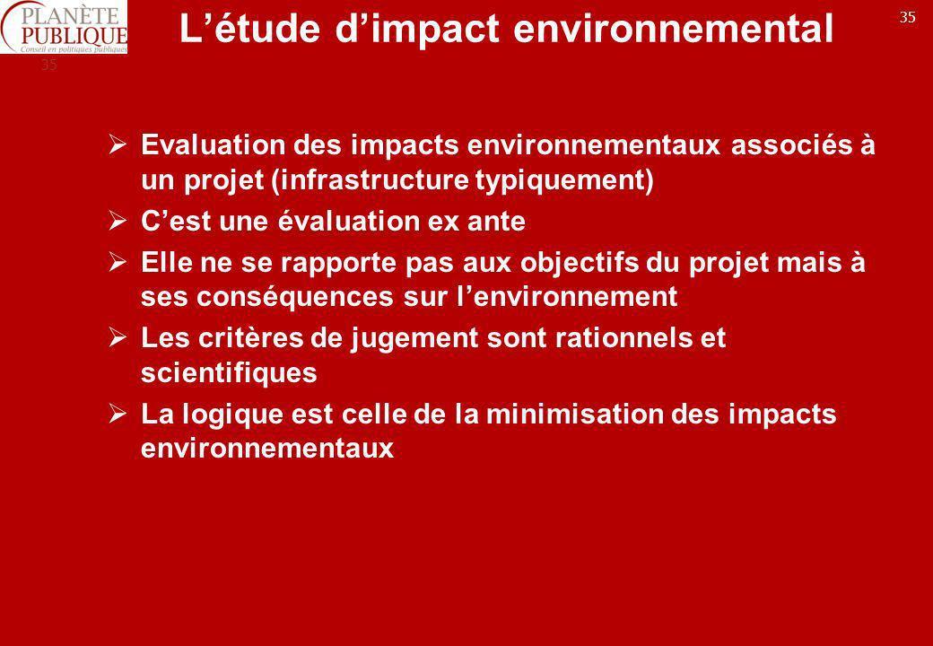 L'étude d'impact environnemental