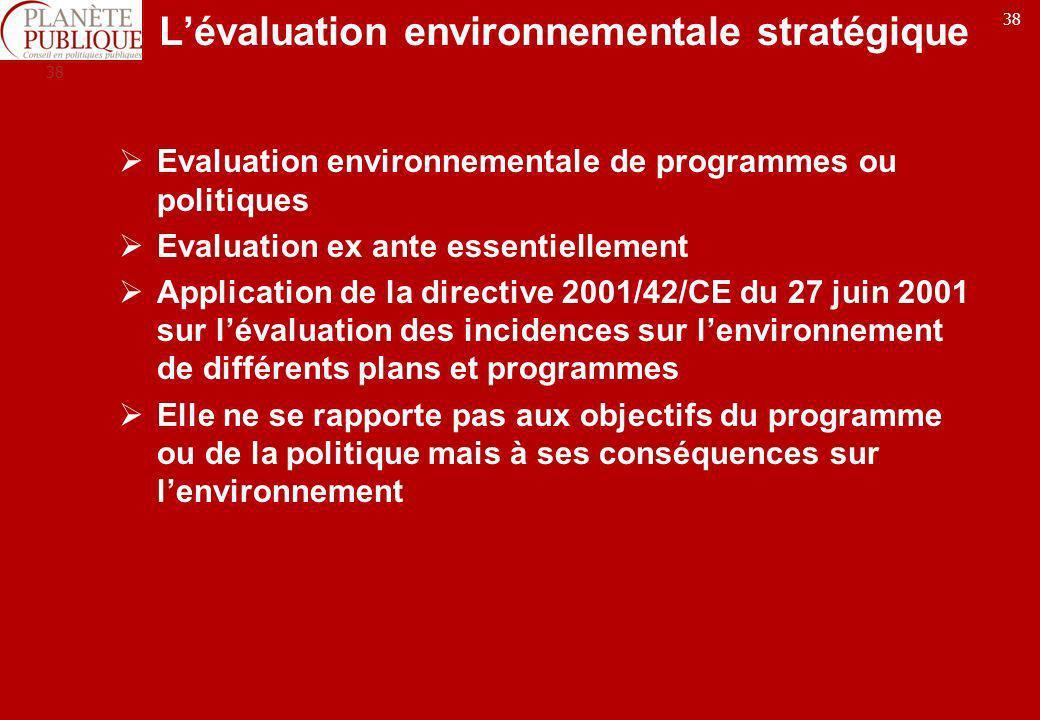 L'évaluation environnementale stratégique