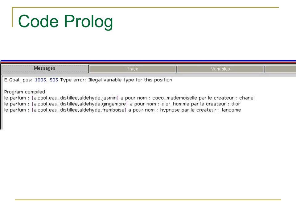 Code Prolog