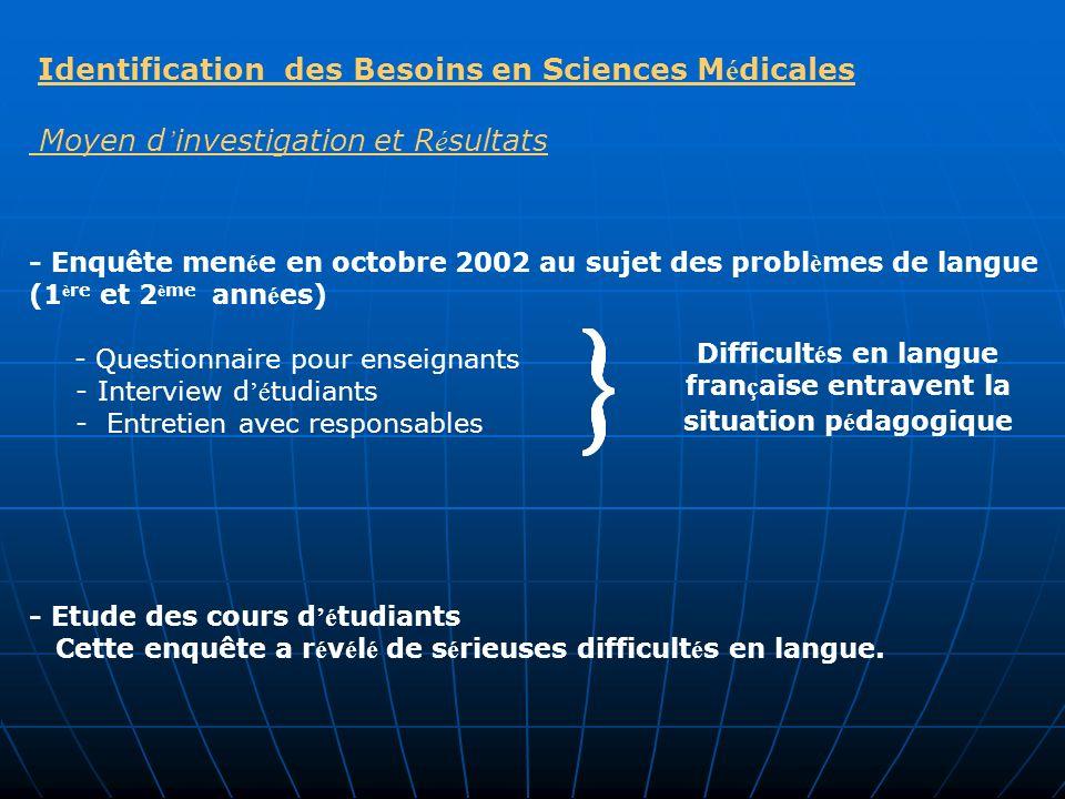 Difficultés en langue française entravent la situation pédagogique