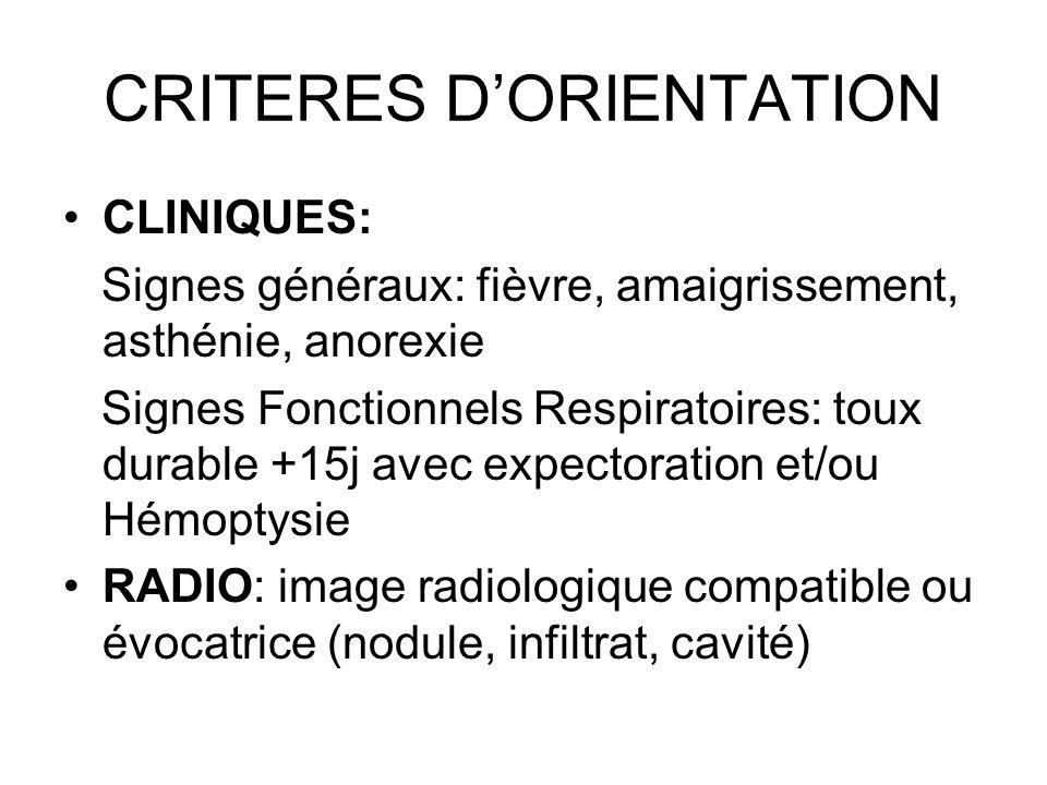 CRITERES D'ORIENTATION