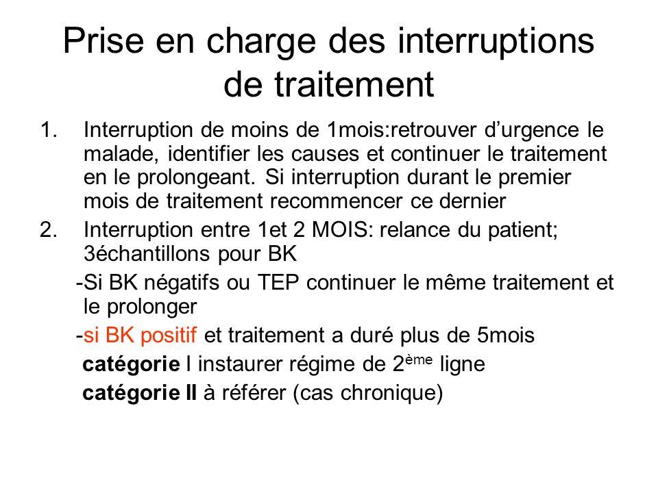 Prise en charge des interruptions de traitement