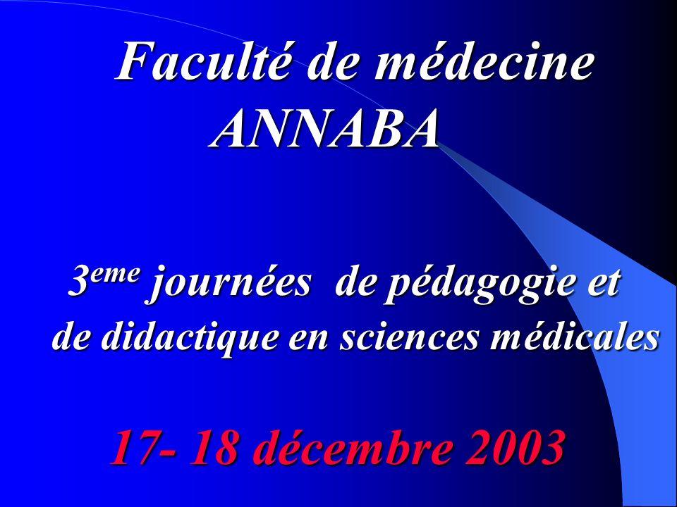 3eme journées de pédagogie et de didactique en sciences médicales
