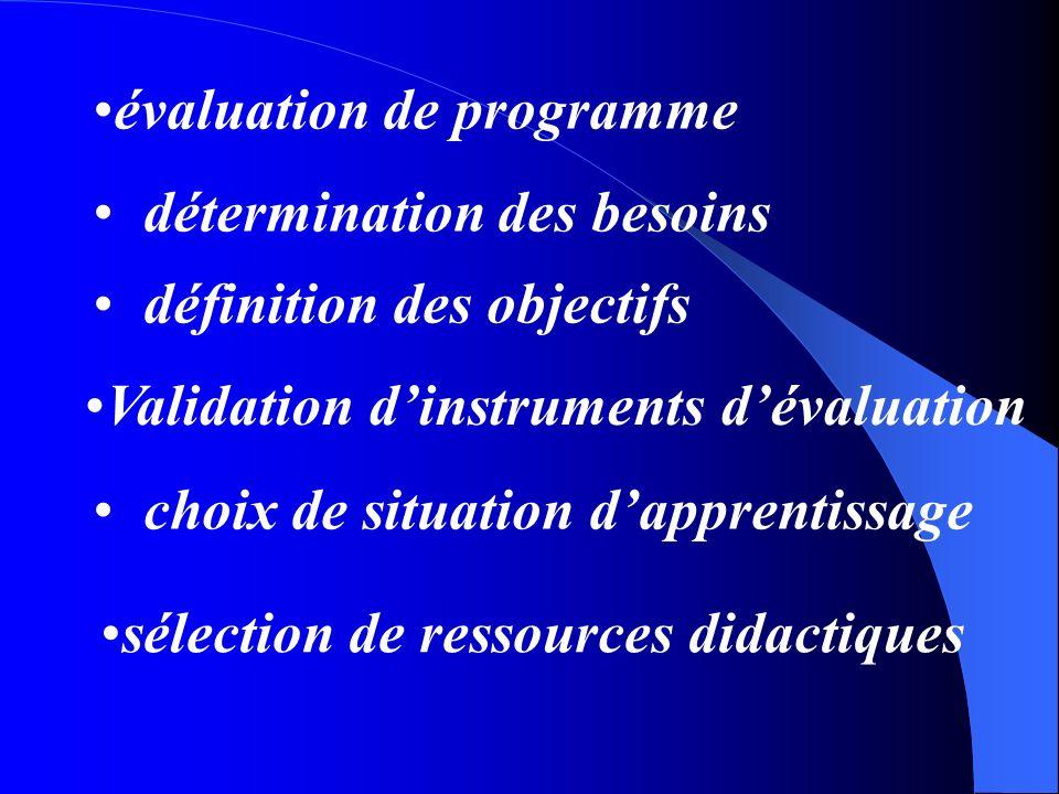 évaluation de programme