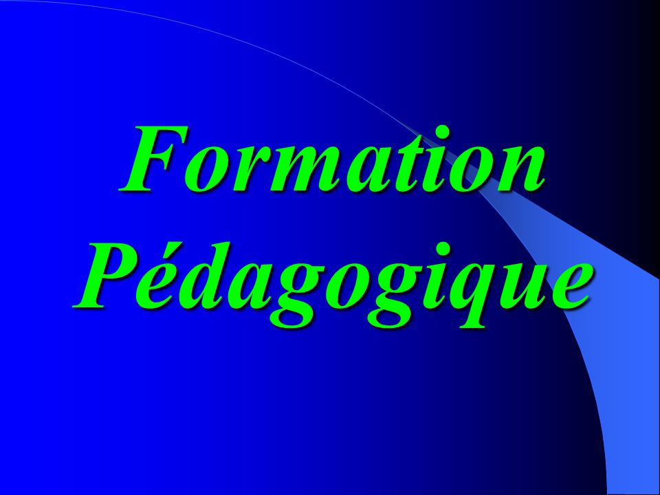 Formation Pédagogique