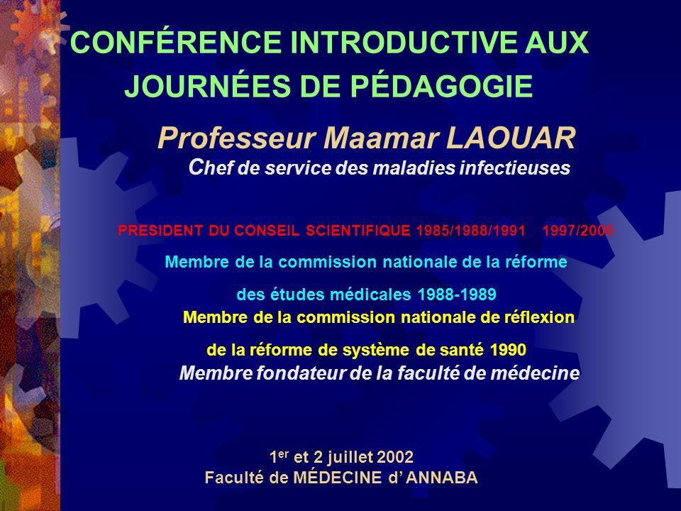 CONFÉRENCE INTRODUCTIVE AUX JOURNÉES DE PÉDAGOGIE