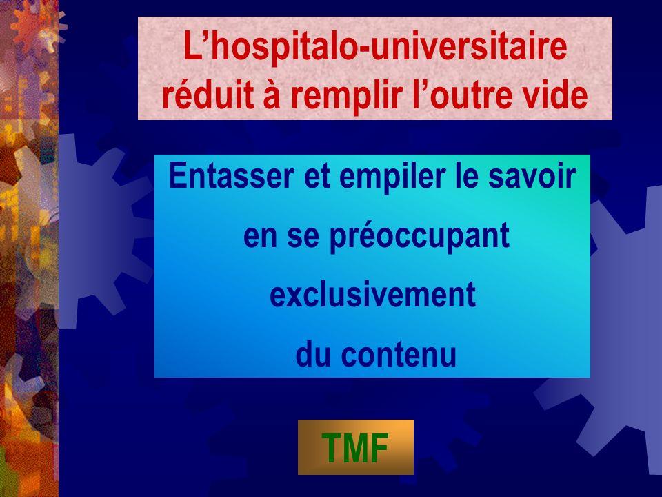 L'hospitalo-universitaire réduit à remplir l'outre vide TMF