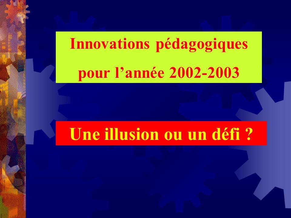 Innovations pédagogiques