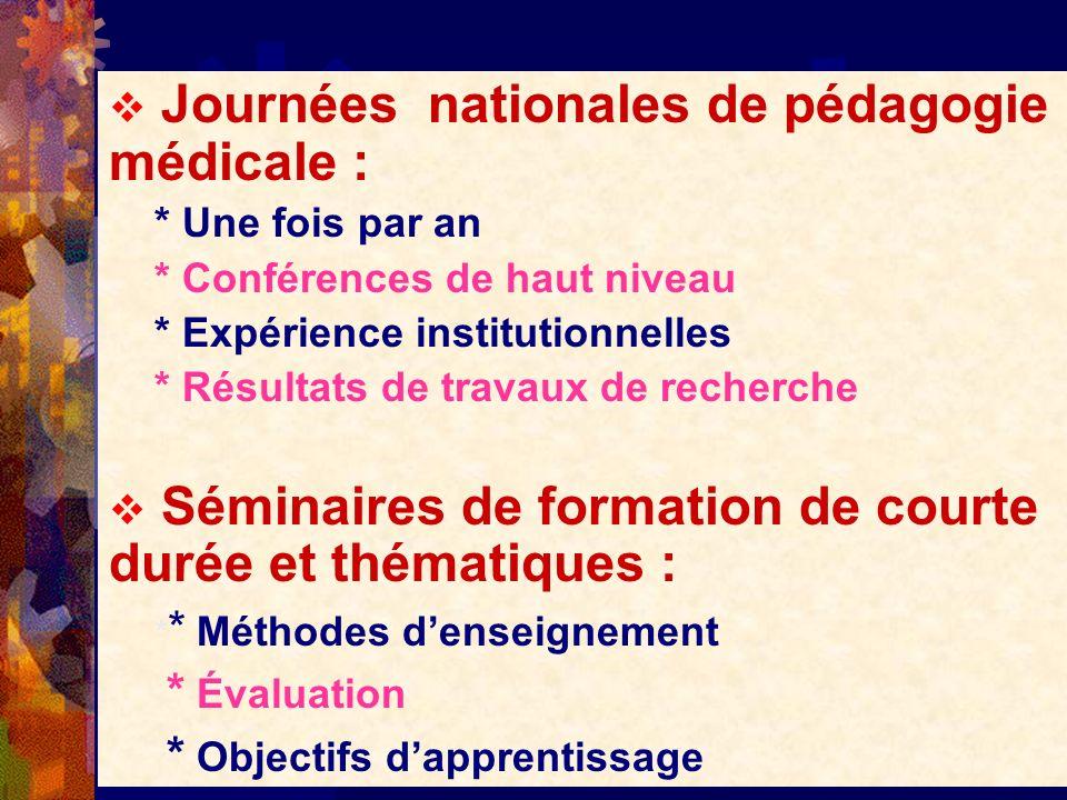 Journées nationales de pédagogie médicale :