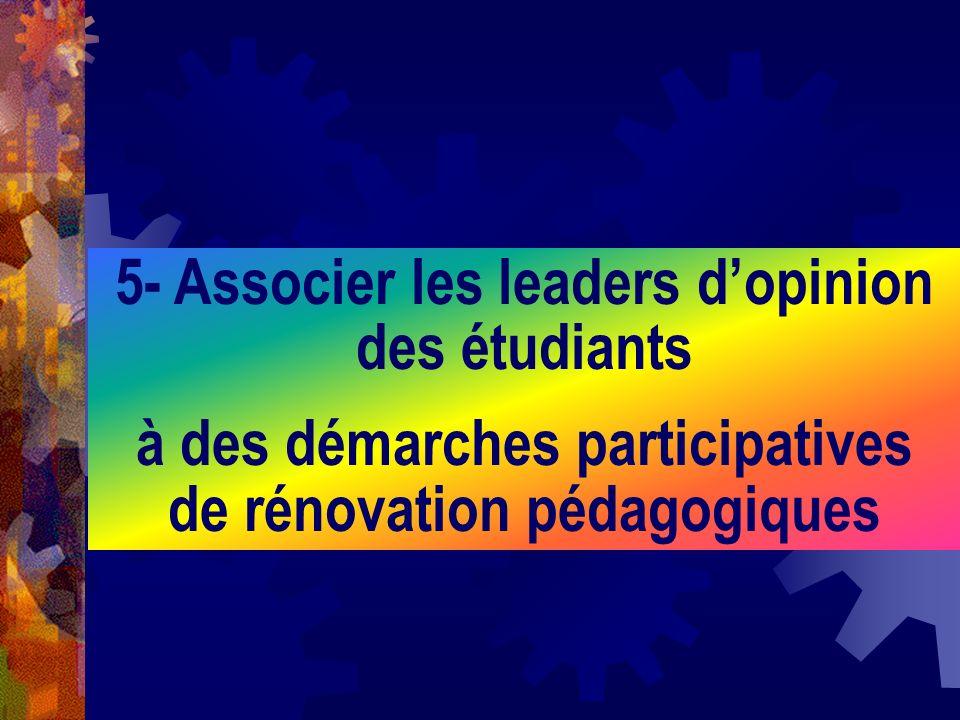 5- Associer les leaders d'opinion des étudiants