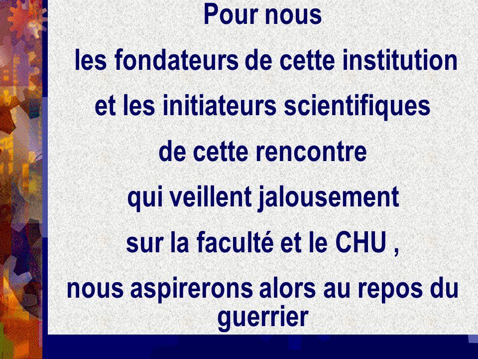 les fondateurs de cette institution et les initiateurs scientifiques