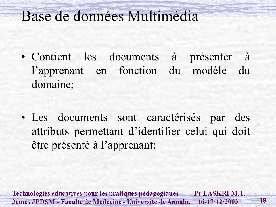 Base de données Multimédia