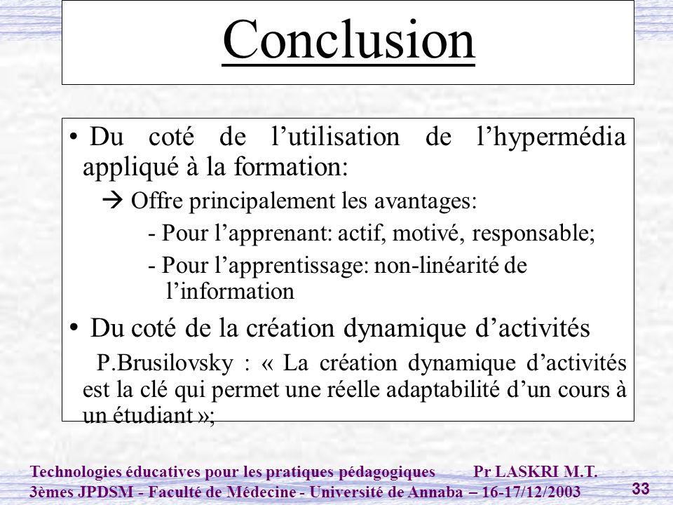 Conclusion Du coté de la création dynamique d'activités