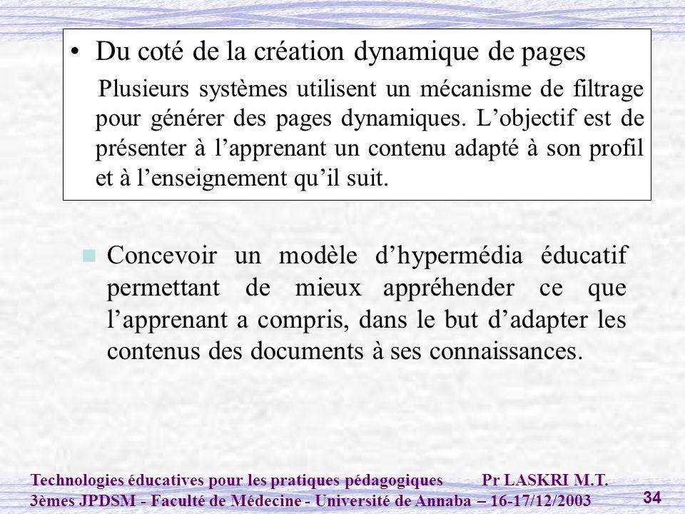 Du coté de la création dynamique de pages