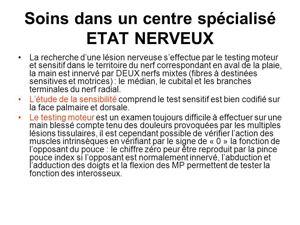 Soins dans un centre spécialisé ETAT NERVEUX