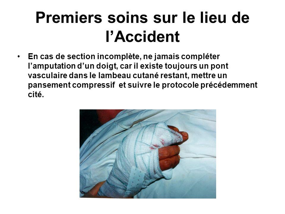 Premiers soins sur le lieu de l'Accident
