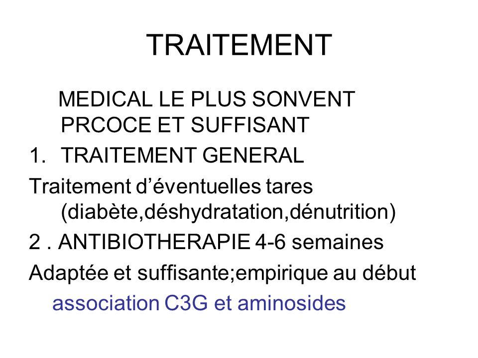 TRAITEMENT MEDICAL LE PLUS SONVENT PRCOCE ET SUFFISANT