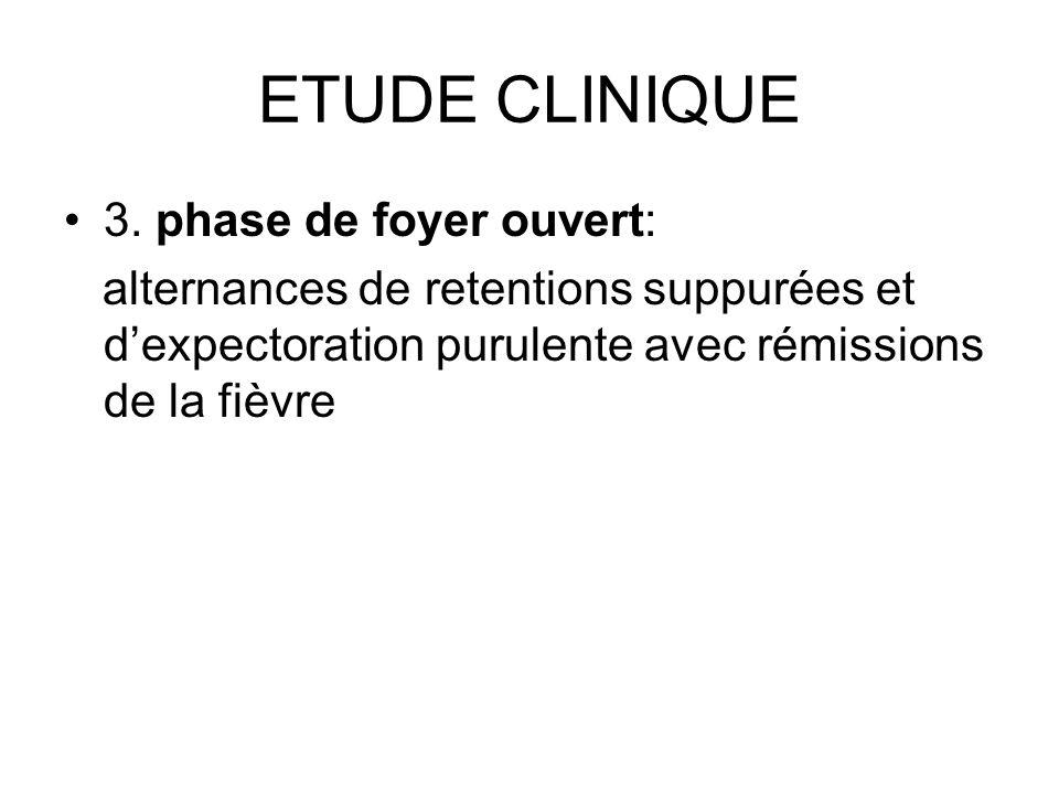 ETUDE CLINIQUE 3. phase de foyer ouvert: