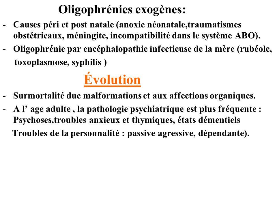 Oligophrénies exogènes: