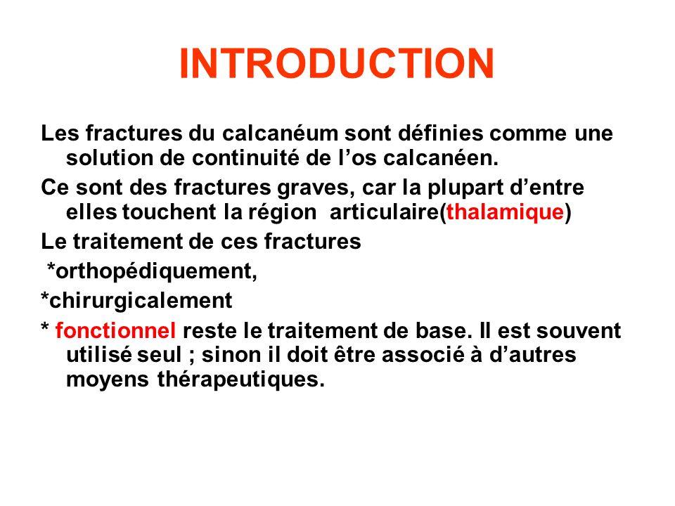 INTRODUCTION Les fractures du calcanéum sont définies comme une solution de continuité de l'os calcanéen.