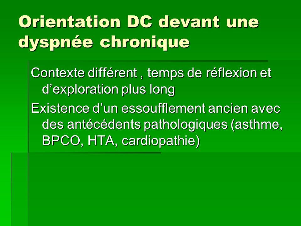 Orientation DC devant une dyspnée chronique