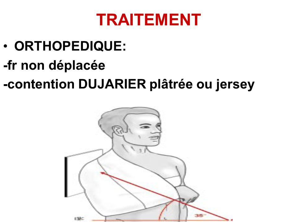 TRAITEMENT ORTHOPEDIQUE: -fr non déplacée