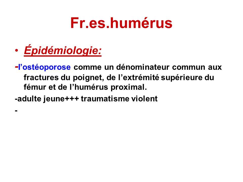Fr.es.humérus Épidémiologie: