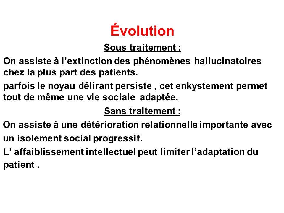 Évolution Sous traitement :