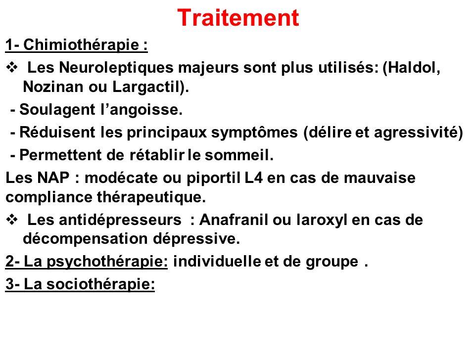 Traitement 1- Chimiothérapie :