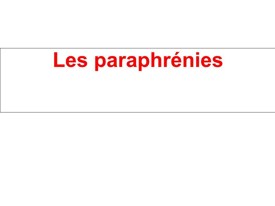 Les paraphrénies
