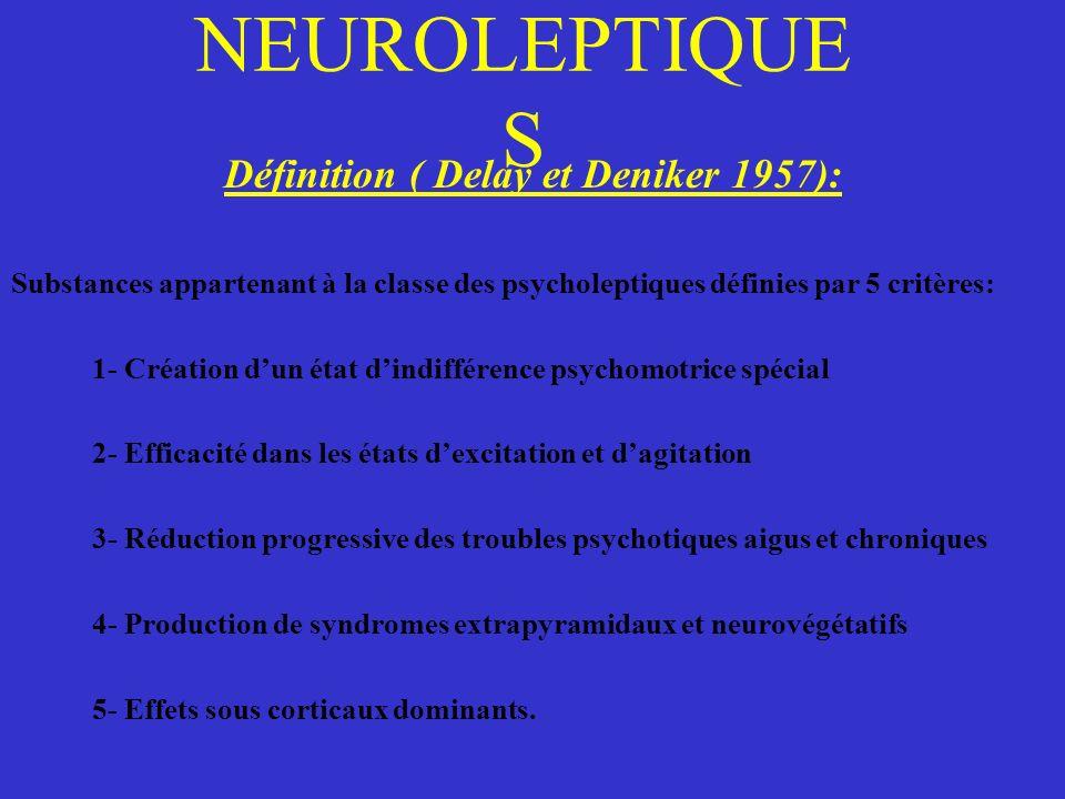 Définition ( Delay et Deniker 1957):