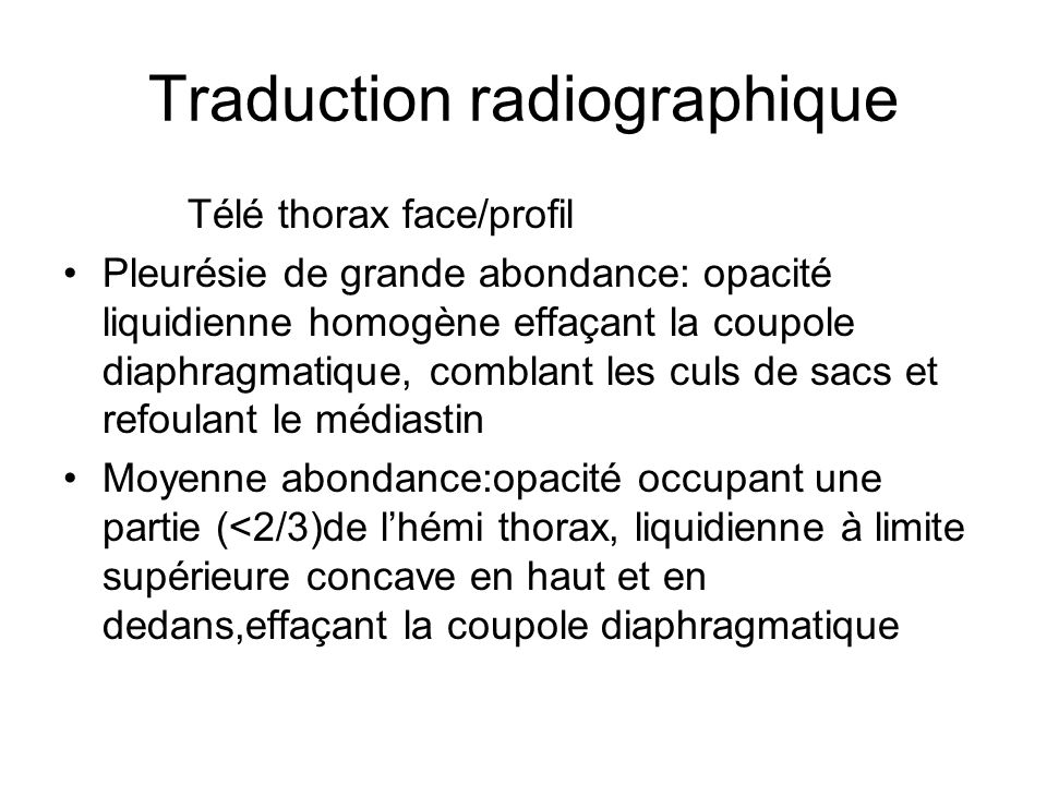 Traduction radiographique