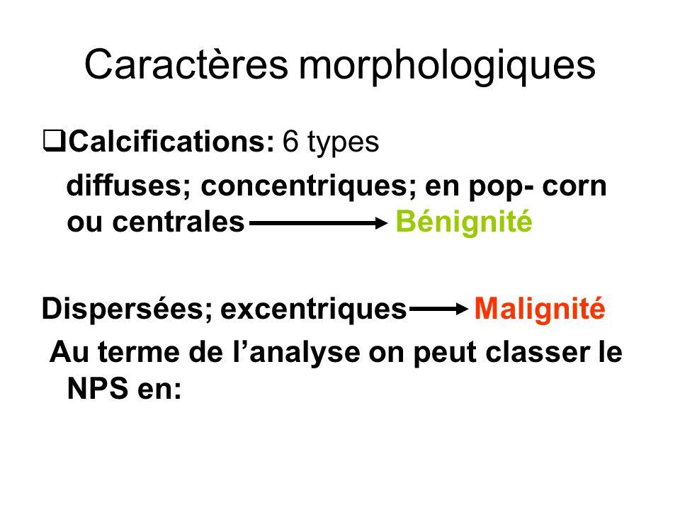 Caractères morphologiques