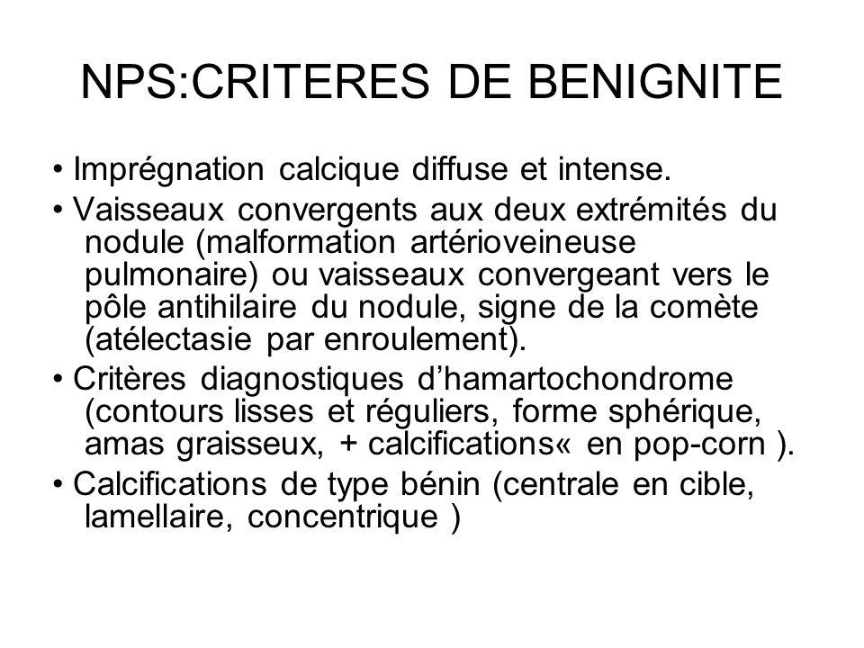 NPS:CRITERES DE BENIGNITE