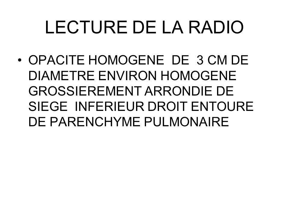 LECTURE DE LA RADIO