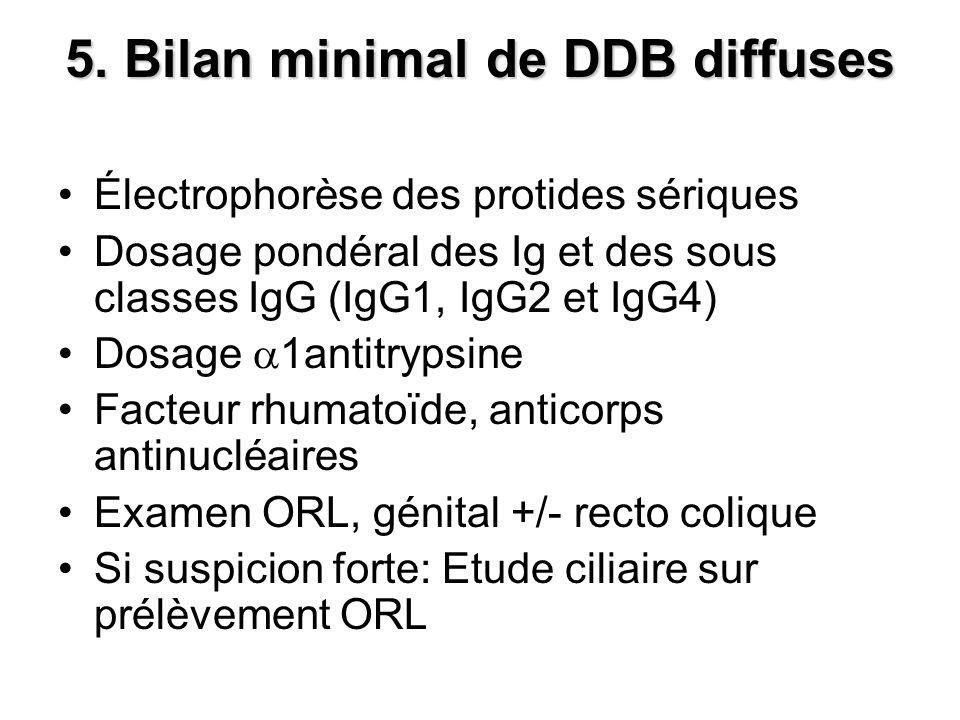 5. Bilan minimal de DDB diffuses