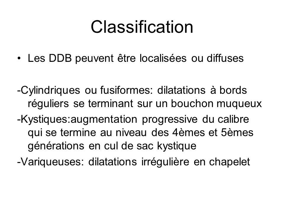 Classification Les DDB peuvent être localisées ou diffuses