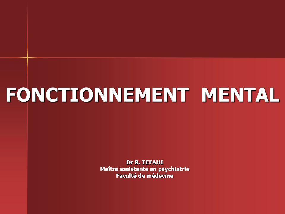 FONCTIONNEMENT MENTAL